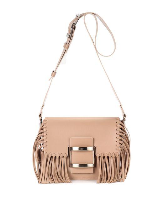 Roger Vivier - Brown Viv Mini Leather Shoulder Bag - Lyst