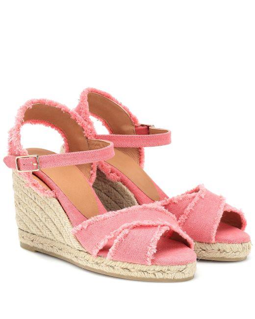 mejor servicio d5910 05193 Alpargatas Bromelia de cuña de mujer de color rosa