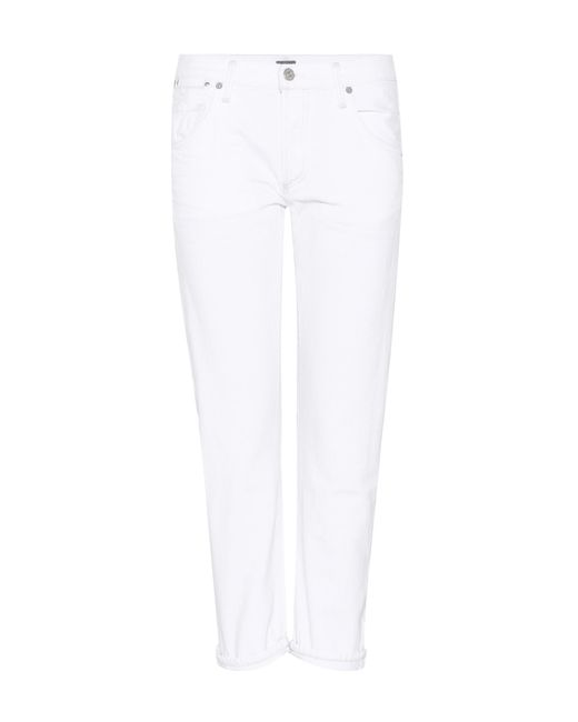 Citizens of Humanity - White Emerson Slim Cropped Boyfriend Jeans - Lyst