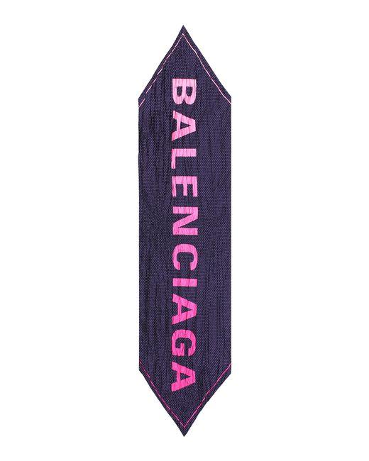 Balenciaga - Purple Polka Dot Silk Scarf - Lyst