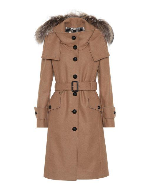 Burberry   Natural Claybrooke Wool-blend Coat   Lyst