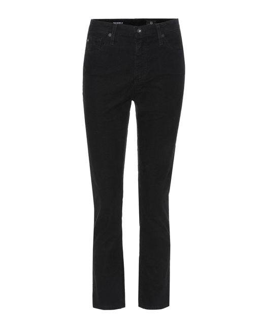 AG Jeans - Black Isabel Cropped Corduroy Trousers - Lyst