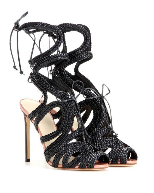 Francesco Russo | Black Leather Sandals | Lyst