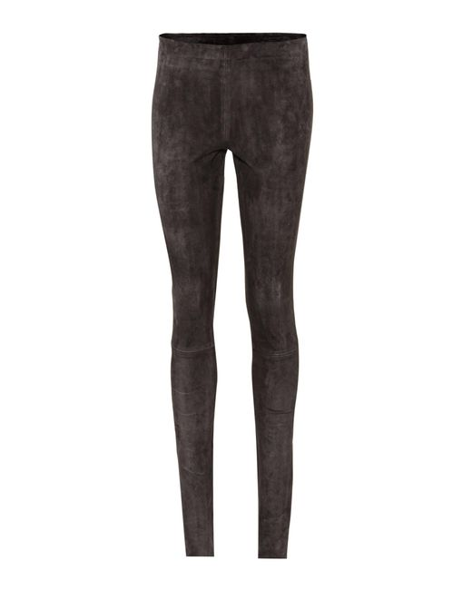 Stouls | Gray Carolyn Suede Leggings | Lyst