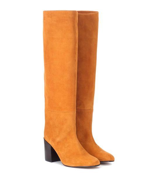 Stuart Weitzman - Brown Tubo Suede Knee-high Boots - Lyst