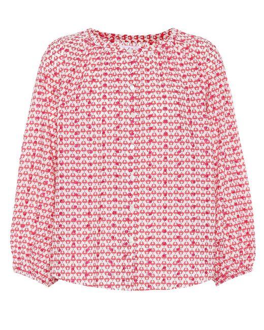Velvet - Red Oprah Cotton Blouse - Lyst