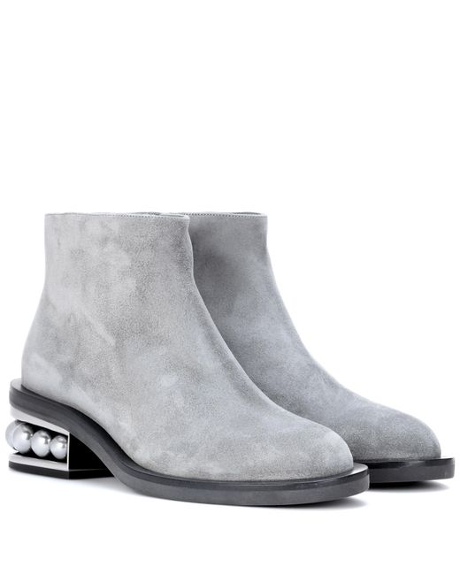 Nicholas Kirkwood | Gray Casati Suede Ankle Boots | Lyst
