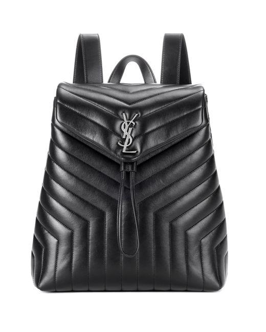 Saint Laurent - Black Medium Loulou Monogram Backpack - Lyst