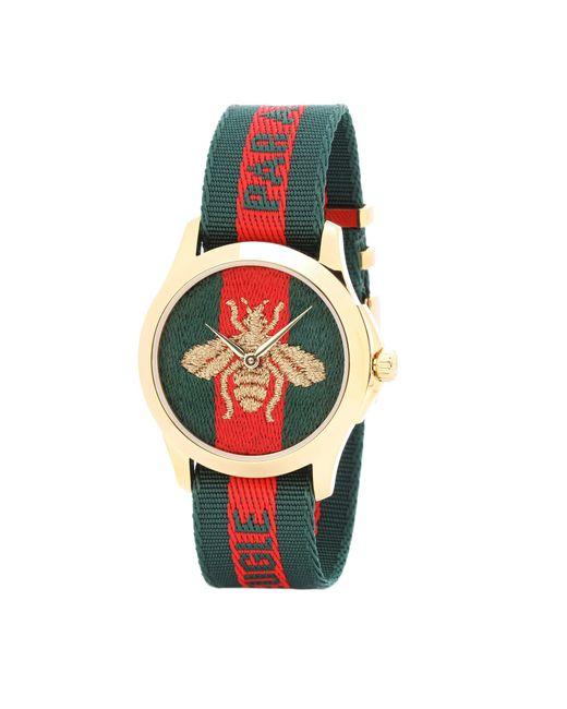 Gucci - Multicolor Le Marché Des Merveilles 38mm Striped Fabric Watch - Lyst