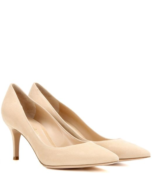 Gianvito Rossi - Natural Exclusive To Mytheresa. Com – Gianvito 70 Suede Pumps - Lyst
