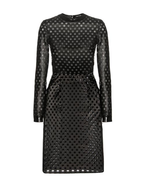 Tom Ford - Black Perforated Leather Dress - Lyst
