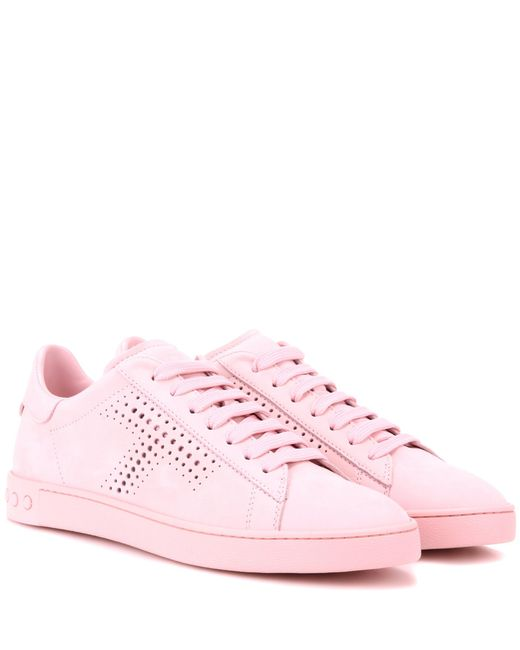 Tod's | Pink Suede Sneakers | Lyst