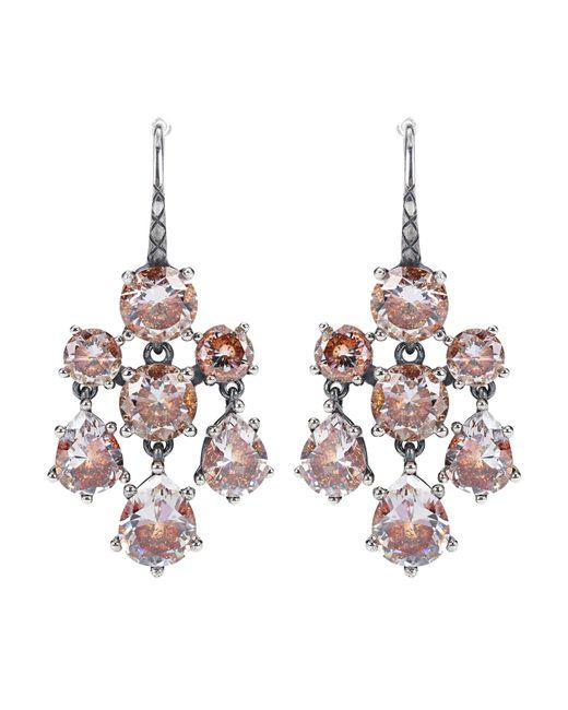 Bottega Veneta - Metallic Cubic Zirconia-embellished Earrings - Lyst