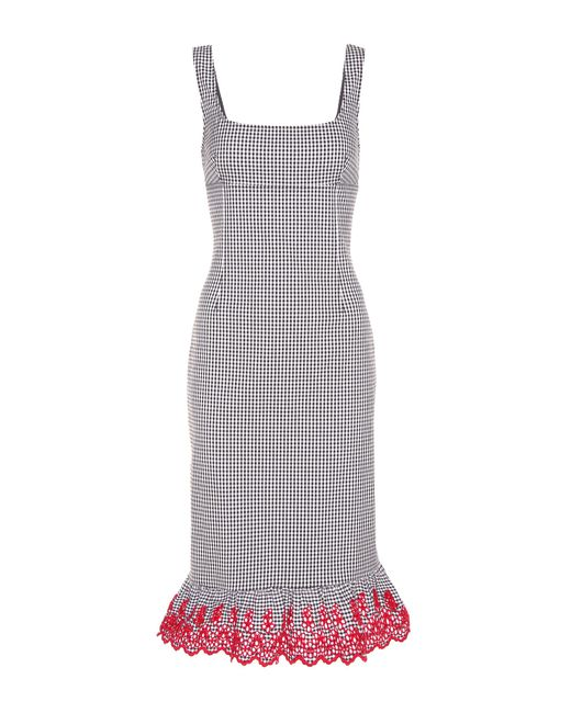 Altuzarra - Black Embroidered Cotton Dress - Lyst