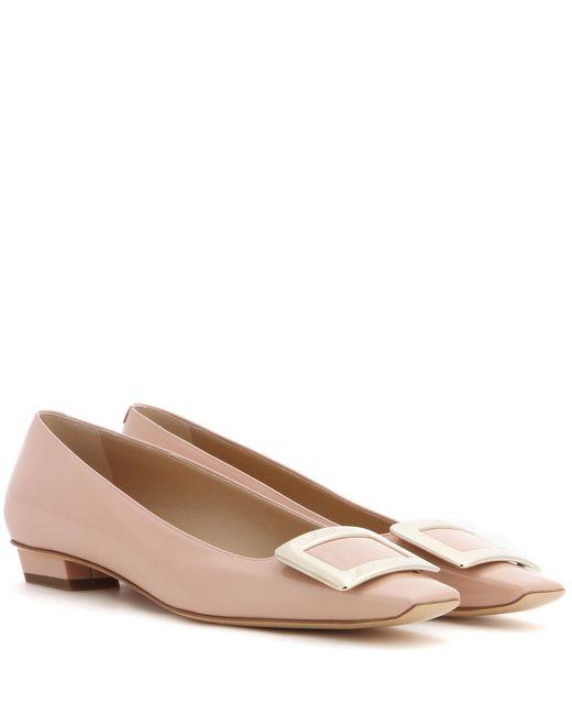 Roger Vivier - Natural Belle Vivier Patent Leather Ballerinas - Lyst