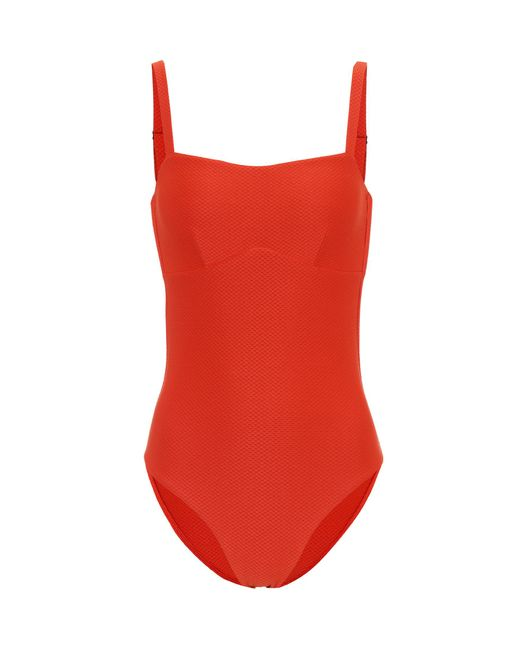 Asceno - Red Classic One-piece Swimsuit - Lyst