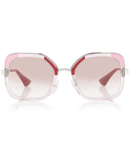 Prada - Pink Cinéma Square Sunglasses - Lyst