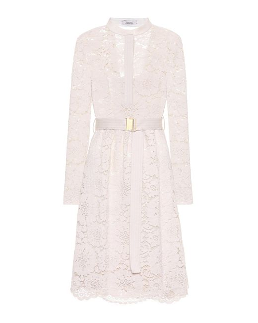 lyst dorothee schumacher lace temptation dress in white. Black Bedroom Furniture Sets. Home Design Ideas