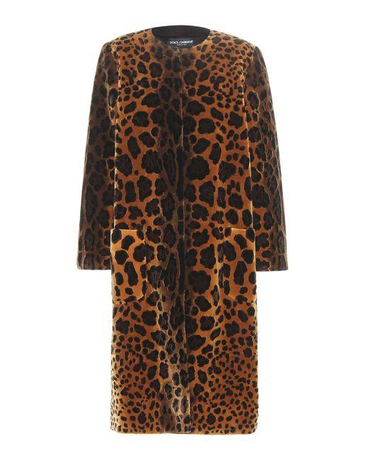 Dolce & Gabbana - Metallic Printed Velvet Silk-Blend Coat - Lyst