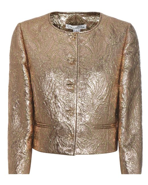 Oscar de la Renta | Metallic Jewel Brocade Jacket | Lyst
