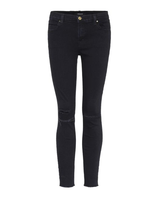 J Brand - Blue Ankle Mid-rise Jeans - Lyst