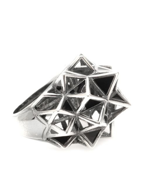 Bottega Veneta | Metallic Sterling Silver Cocktail Ring | Lyst