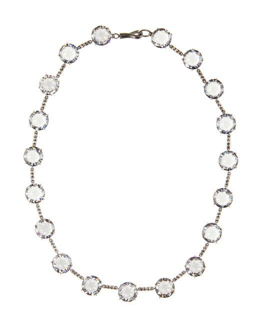 Bottega Veneta | Metallic Cubic Zirconia-embellished Necklace | Lyst