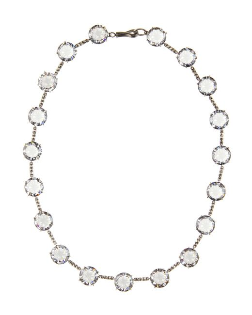 Bottega Veneta | Metallic Cubic Zirconia-embellished Necklace | Lyst