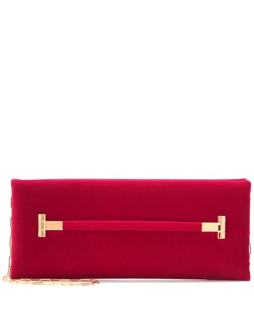 Tom Ford | Red East West Velvet Clutch | Lyst
