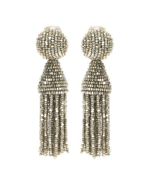 Oscar de la Renta | Metallic Classic Short Tassel Earrings | Lyst