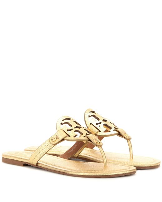 Tory Burch | Miller Metallic Leather Sandals | Lyst