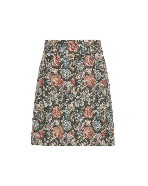 Miu Miu | Multicolor Printed Jacquard Skirt | Lyst