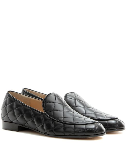 Gianvito Rossi | Black Marcel Driver Quilted Leather Loafers | Lyst