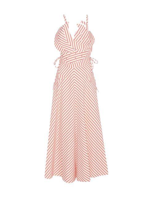 Rosie Assoulin | Natural Tutti Frutti Striped Linen And Cotton Dress | Lyst