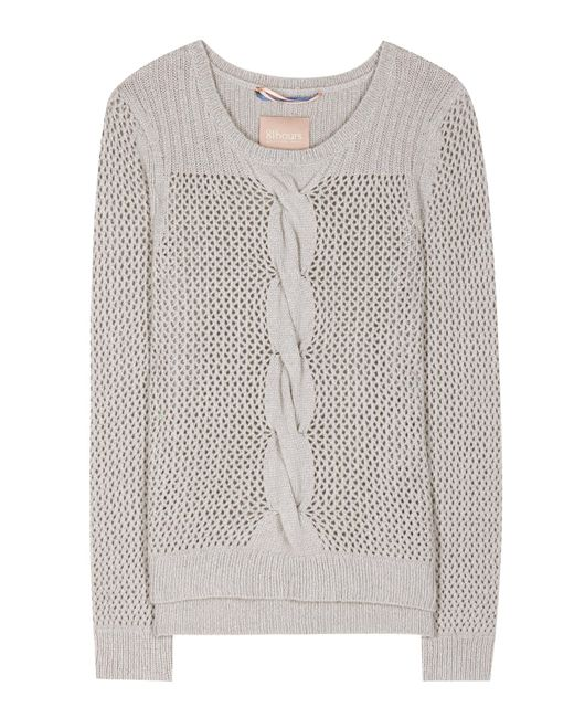 81hours | Gray Rita Wool And Cashmere-blend Sweater | Lyst