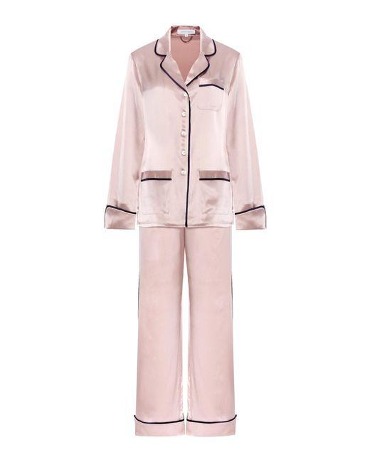 Olivia Von Halle | Pink Coco Silk-satin Pyjama Set | Lyst