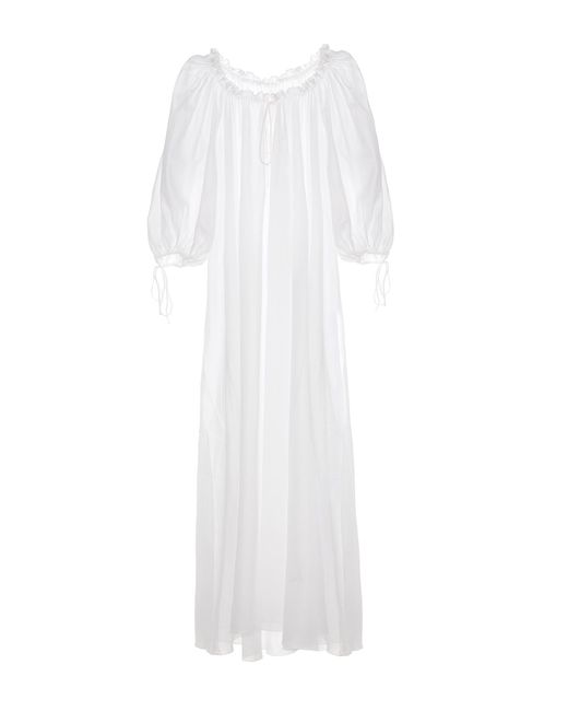 Three Graces London | White Almost A Honeymoon Cotton Maxi Nightdress | Lyst