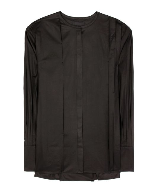 The Row | Black Painter Cotton Blouse | Lyst