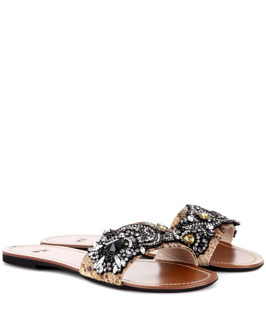 N°21 | Multicolor Italo Embellished Sandals | Lyst