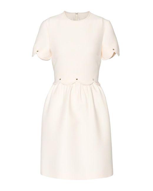 Valentino | White Wool And Silk Dress | Lyst