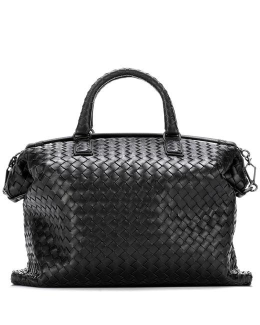 Bottega Veneta | Black Intrecciato Leather Tote | Lyst