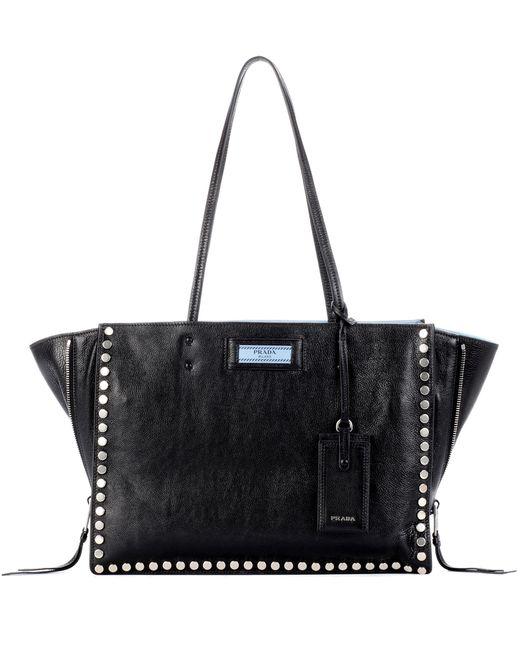 Prada   Black Etiquette Leather Tote   Lyst