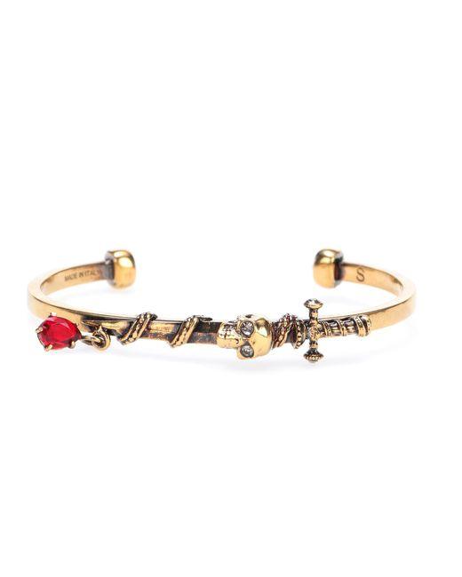 Alexander McQueen | Metallic Crystal-embellished Bracelet | Lyst