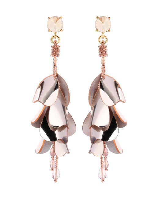 Oscar de la Renta   Metallic Beaded Earrings   Lyst
