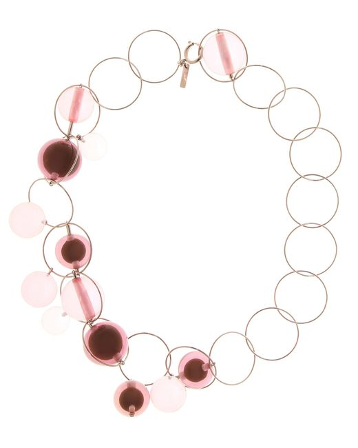 Marni | Pink Bauble Necklace | Lyst