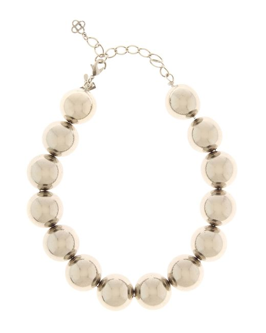 Oscar de la Renta | Metallic Beaded Necklace | Lyst