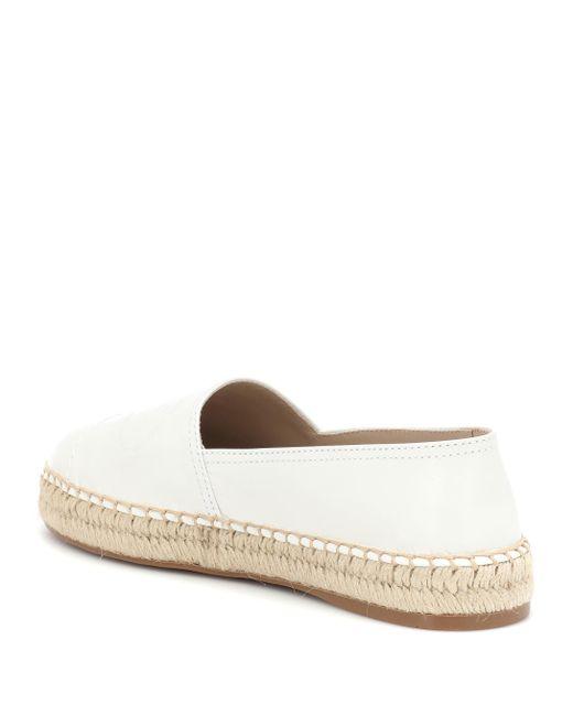7dca8ecef77 Lyst - Prada Leather Espadrilles in White - Save 14%