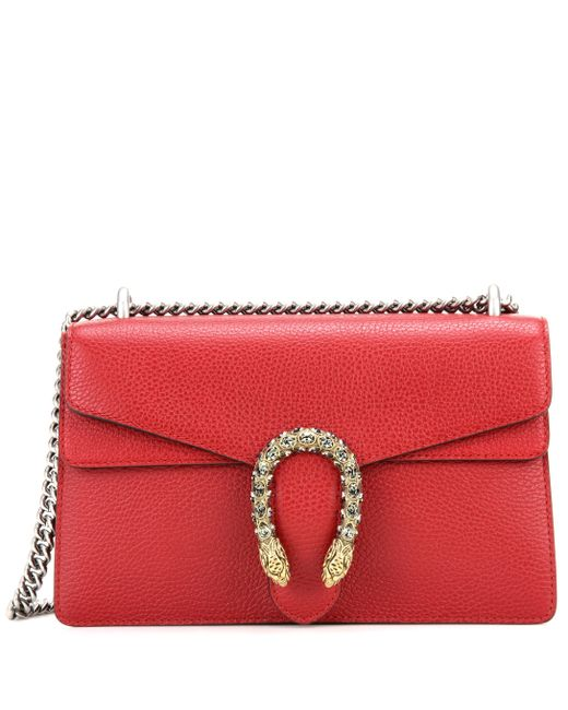 Gucci - Red Dionysus Small Leather Shoulder Bag - Lyst ... cb804a4a30664