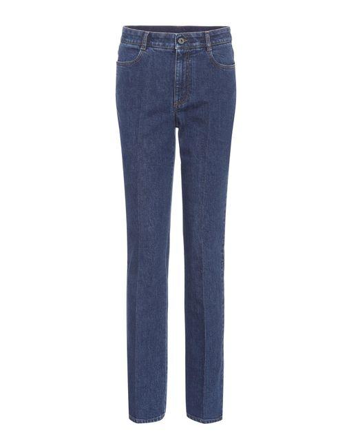 Stella McCartney - Blue High-Rise Skinny Jeans - Lyst