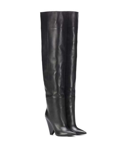 Saint Laurent - Black Niki 105 Leather Boots - Lyst